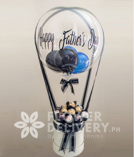 Happy Father's Day Balloon with Ferrero Chocolate