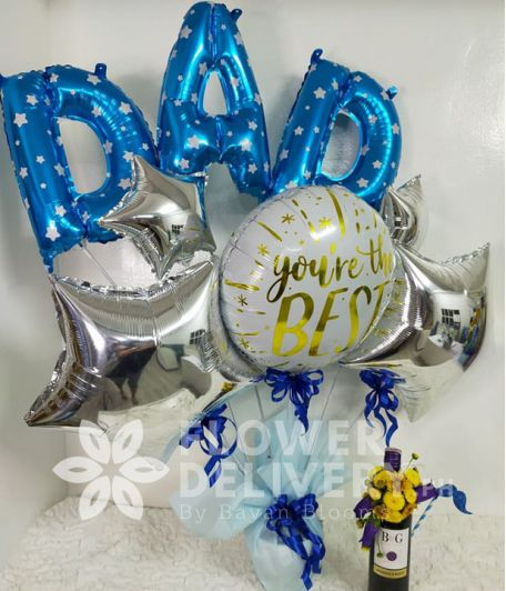 Special Dad Balloon with Wine