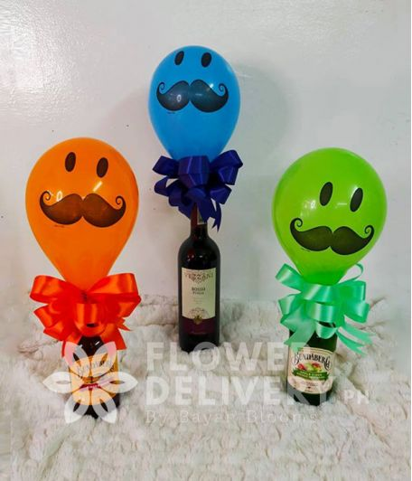 Special Father's Day Ginger Ale bundle with Balloons