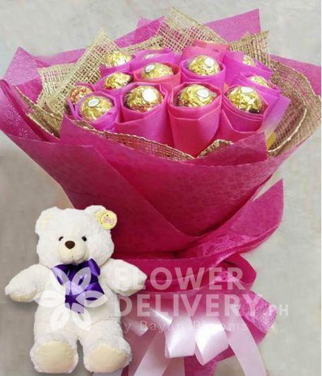 Ferrero Bouquet with Bear