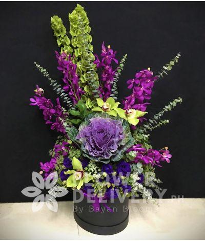 Vertical Purple Orchids