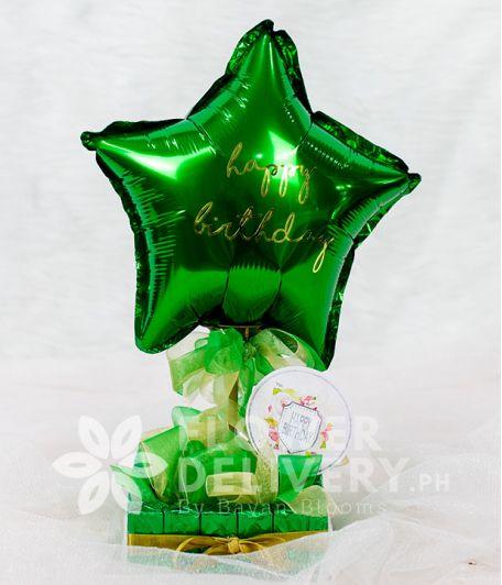 Green Star Balloon with Chocnut