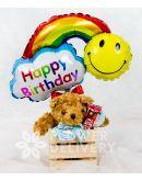 Small Teddy Bear with Happy Birthday Banner