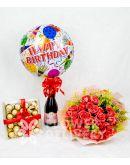 Elegant Pomelo Rose Bouquet Bundle
