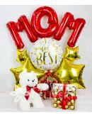 Mom Balloon with Chocolates and Bear
