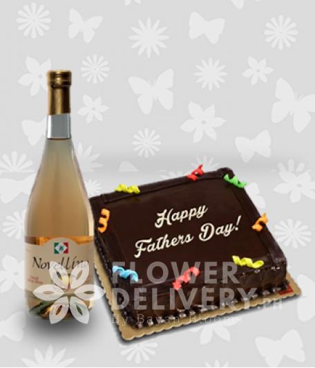 Chocolate Cake and Novellino Lucious Peach Wine
