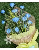 1 Dozen Blue Roses Spray (Arm Bouquet)