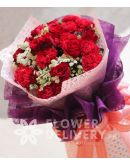 1 Dozen Red Roses and 1 Dozen Red Carnations