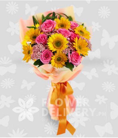 1 Dozen Mixed Rainbow Flowers