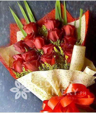 16 pcs. Ecuadorian Red Roses