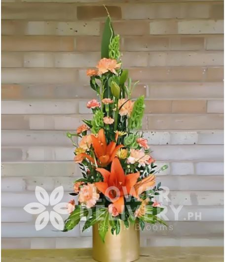 Vertical Orange Flowers