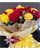 1 Dozen Yellow and 1 Dozen Red Ecuadorian Roses