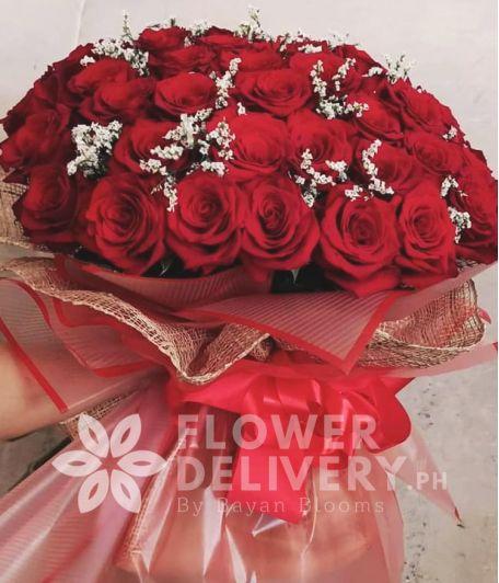 4 Dozen Ecuadorian Red Roses