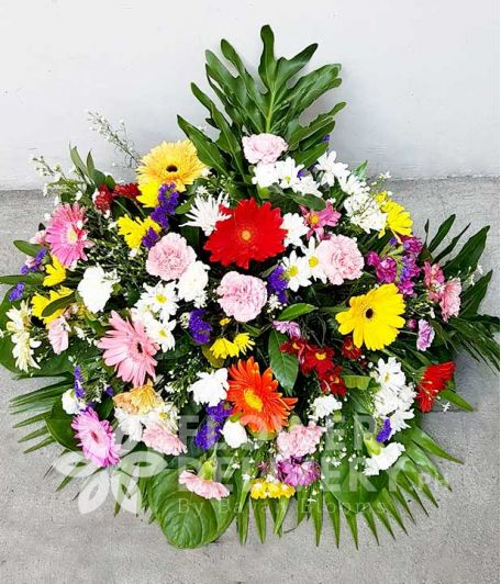 Colorful Memorial Flowers