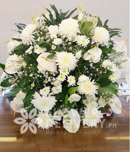 Elegant White Memorial Flowers
