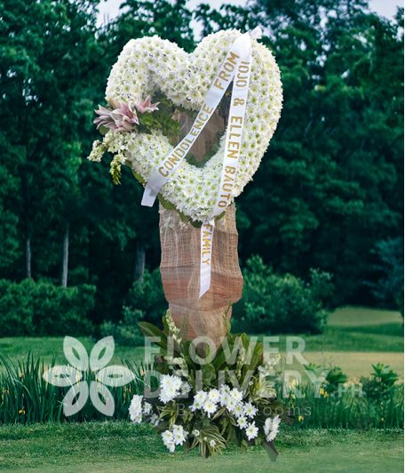 Heart Funeral Flower 1