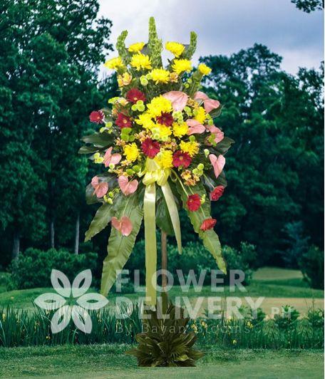 Inaugural Flower Standee 2