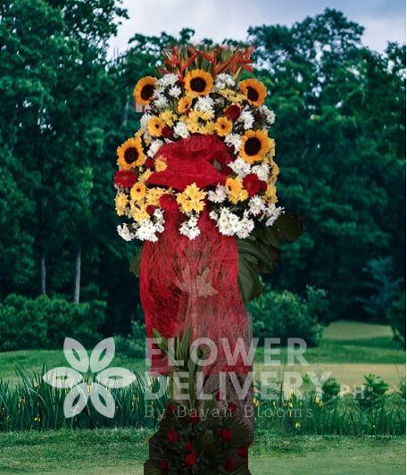 Inaugural Flower Standee 4