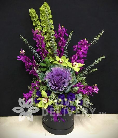 Vertical Purple Orchids