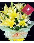1 Dozen Yellow Lilies