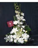 Vertical White Flowers