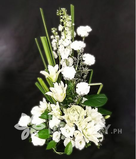 Vertical White Flowers