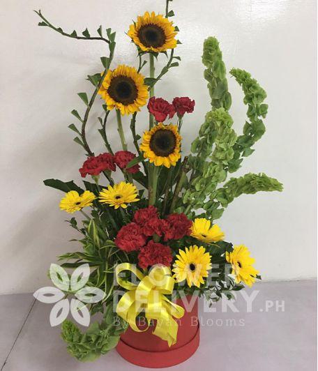 A lovely box of birthday flower preset