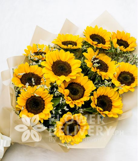 Arm Bouquet of 1 Dozen Sunflowers