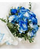 Charming Blue Roses Spray
