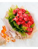 Elegant Pomelo Rose in a Bouquet