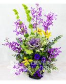 Elegant Vertical Purple Flowers
