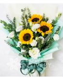 Pretty Bouquet of 3 Sunflowers