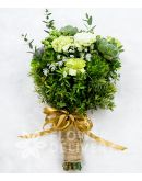 Pretty Bouquet of Carnations and Succulents