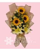 3 Sunflower and Lilies