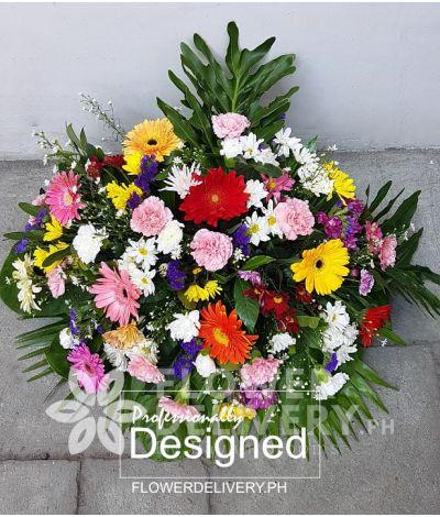 Colorful Memorial Flowers