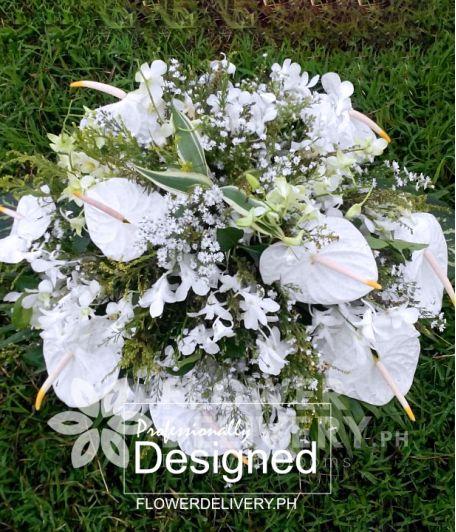 Memorial White Flowers