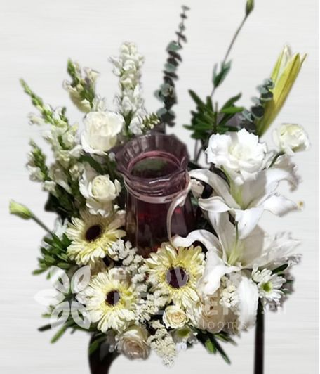 Beautiful Mixed White Urn Flower Arrangement