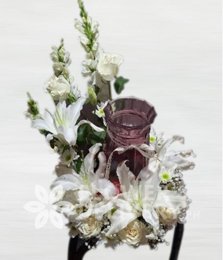 Brilliance Mixed White Urn Flower Arrangement