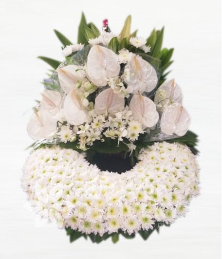 Elegant White Mixed Urn Flower Arrangement