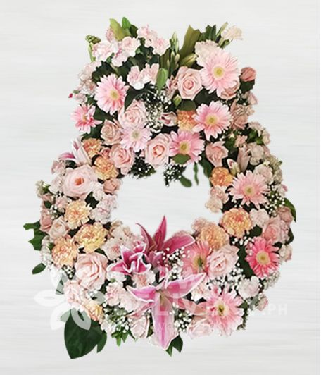 Sincerity Pink Urn Flower Arrangement