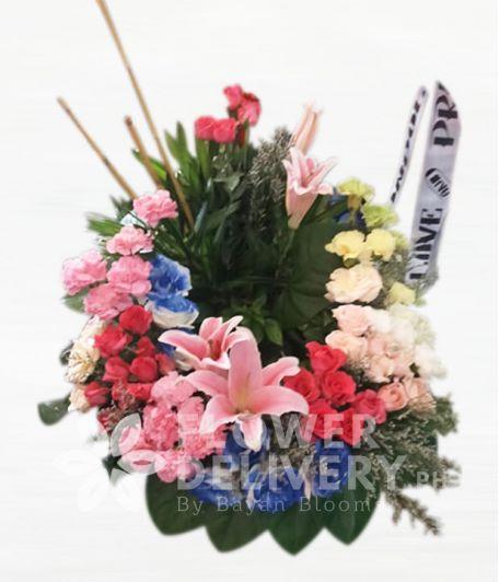 Vibrant Mixed Urn Flower Arrangement