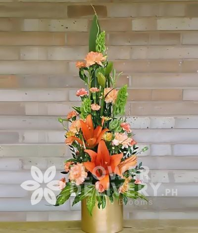 Vertical Orange Flowers